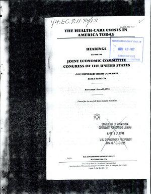 The Health care Crisis in America Today PDF