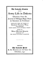 Army Life in Dakota, Selections from the Journal of Philippe Régis Denis de Keredern de Trobriand