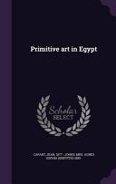 Primitive Art in Egypt
