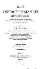Traité d'anatomie topographique médico-chirurgicale