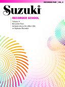 Suzuki Recorder School - Volume 8
