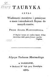 Tauryka czyli Wiadomości starożytne i poźnieysze o stanie i mieszkańcach Krymu do naszych czasów