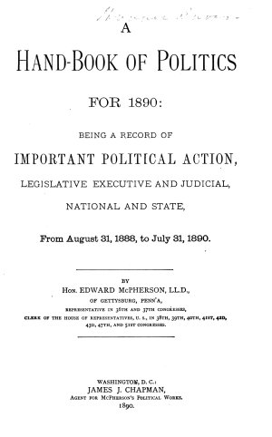 A Hand book of Politics for