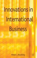 Innovations in International Business PDF