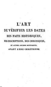 L'art de verifier les dates, 2: inscriptions des chroniques..