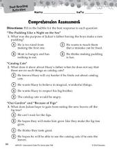 The Stories Julian Tells Comprehension Assessment