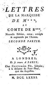 Lettres de la marquise de M***, au comte de R***: Volume2