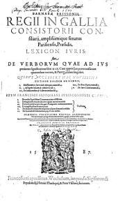 Lexicon iuris: sive de Verborum, quae ad Jus pertinent Significatione libri XIX412