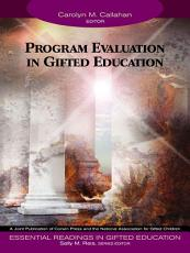 Program Evaluation in Gifted Education PDF