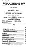 Department of the Interior and Related Agencies Appropriations for 1986 PDF