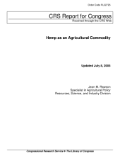 Hemp as an Agricultural Commodity