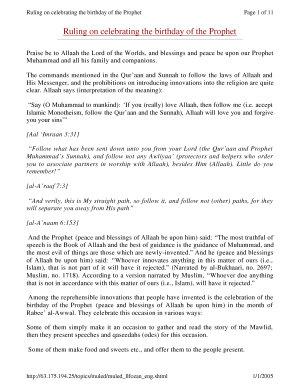 Celebrating birthday of prophet PDF