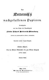 Aus Metternich's nachgelassenen papieren: th., 3.-7. bd. Friedens-aera. 1816-1848