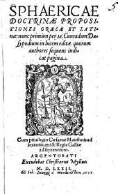 Propositiones Sphaericae doctrinae: Graecae Et Latinae