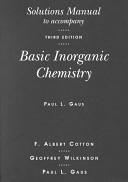 Solutions Manual To Accompany Basic Inorganic Chemistry
