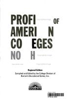Profiles of American Colleges Northeast PDF