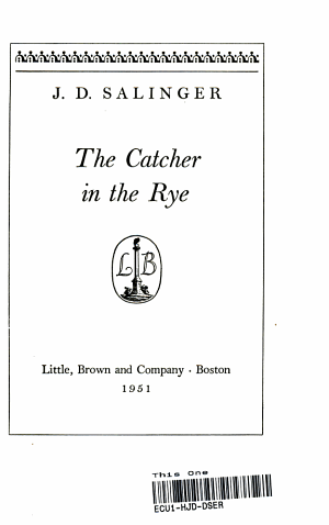 The Catcher In The Rye 2