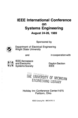 IEEE International Conference on Systems Engineering PDF