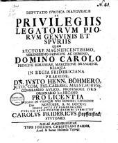 De privilegiis legatorum piorum genuinis et spuriis