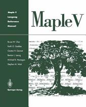 Maple V Language Reference Manual