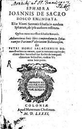 Sphaera Ioannis de Sacro Bosco emendata