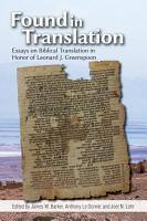 Found in Translation PDF