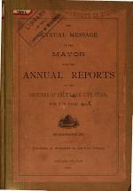 Annual Reports of the Officers of Salt Lake City, Utah