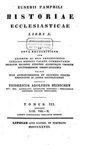 Historiae ecclesiasticae libri decem, ex nova recognitione cum observationibus: Volume 3