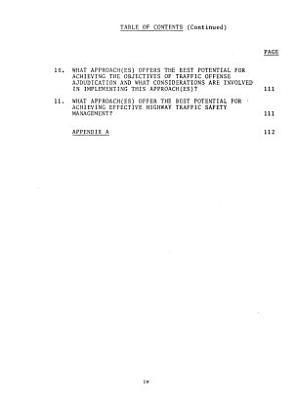 Effective Highway Safety Traffic Offense Adjudication: An analysis