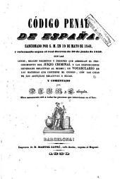 Código penal de España: sancionada por S.M. en 19 de mayo de 1848 y reformada segun Real Decreto de 30 de junio de 1850 ...