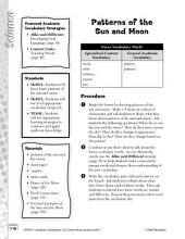 Academic Vocabulary Level 1--Patterns of the Sun and Moon