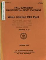 Waste Isolation Pilot Plant  Construction PDF