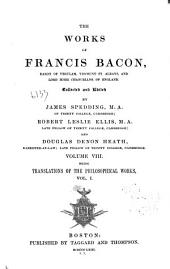 Works of Francis Bacon: Volume 8