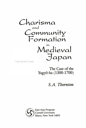 Charisma and Community Formation in Medieval Japan PDF