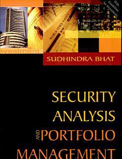Security Analysis and Portfolio Management Book