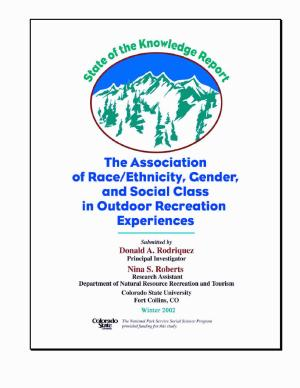 State of the knowledge report the association of race ethnicity  gender  and social class in outdoor recreation experiences