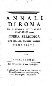 Annali di Roma ...: opera periodica, Volume 6
