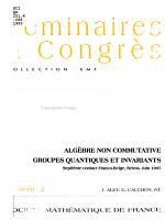 Alg  bre non commutative groupes quantiques et invariants PDF