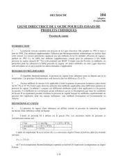Lignes directrices pour les essais de produits chimiques / Section 1: Propriétés Physico-Chimiques Essai n° 104: Pression de vapeur