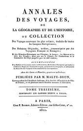 Annales des voyages de la géographie et de l'histoire: Volume13