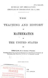 The Teaching and History of Mathematics in the United States: Volumes 890-893