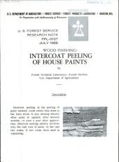 Wood finishing: discoloration of house paint by blue stain