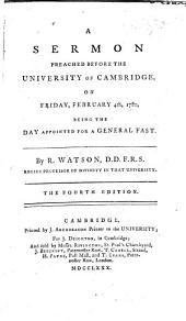 A sermon on Isa. ii. 4 preached before the University of Cambridge, Feb. 4. 1780, being the day appointed for a general fast