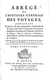 Abrégé de l'Histoire générale des Voyages continué par Comeiras: Volume20