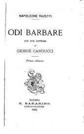 Due lettere di Giosuè Carducci