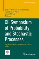 XII Symposium of Probability and Stochastic Processes PDF