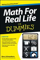 Math For Real Life For Dummies PDF