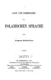 Laut- und Formenlere [!] der polabischen Sprache
