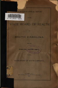 Annual report of the State Board of Health of South Carolina  v  18  1897 PDF