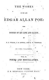The Works of the Late Edgar Allan Poe: With Notices of His Life and Genius, Volume 2